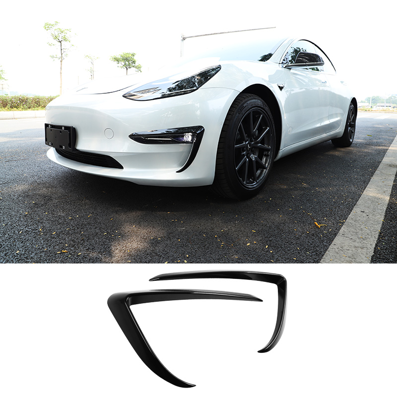 Front blade trim for Tesla model 3 accessories/car accessories model 3 tesla three tesla model 3 carbon/accessoires model3 tesla