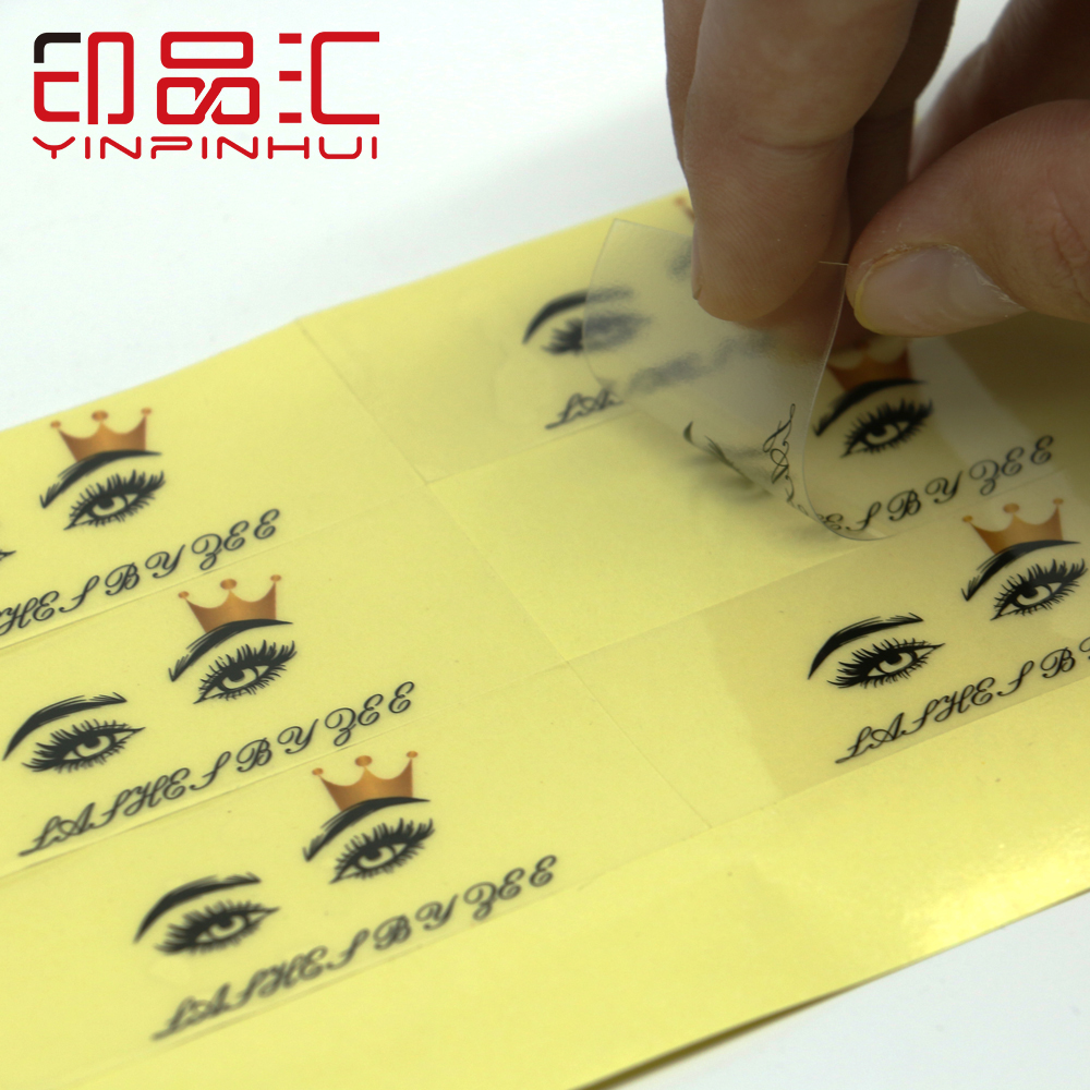 Logo Custom Lashes Book Stickers Transparent PVC Stickers Adhesive Glam And Gorgeous Lashes Box Labels 50pcs/pack