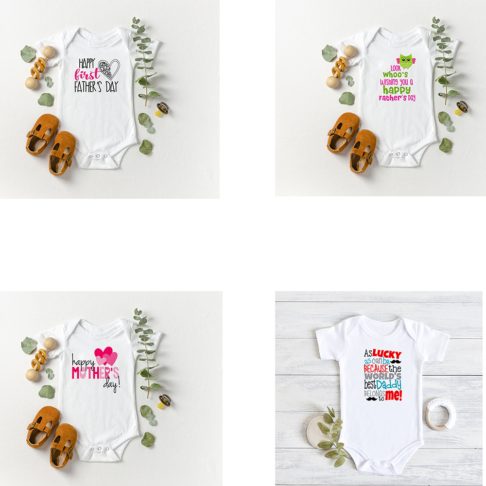 Father's Day Mother's Day Baby Bodysuit Baby Gift For Father's Day World's Best Daddy Outfits Father's Day Gift For Toddler Baby