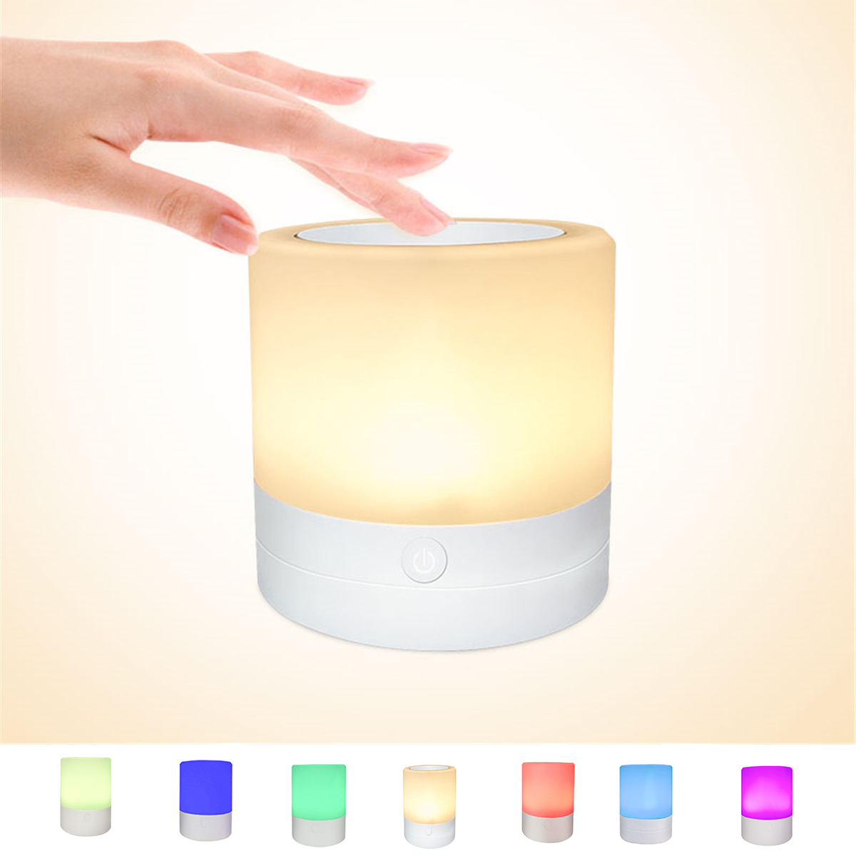 LED Color Changing Atmosphere Night Light Touch Control Induction Dimming Light Smart Bedside Lamp Dimming Color Charging