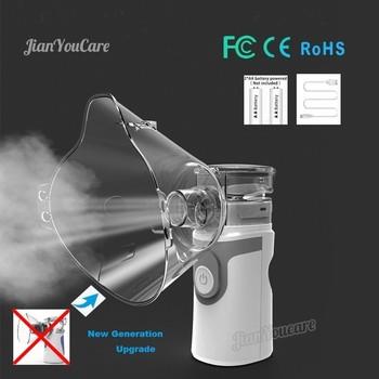 Mini przenośny przenośny inhalator nebulizator Mesh atomizer cichy inalador usb autoclean nebulizador dorosłych Automizer inhalator dla dzieci tanie i dobre opinie JianYouCare JZ-492S Gray 14 0 cm * 11 0 cm * 6 0 cm Certification All age ≥0 25ml min 0 5mL 10mL ≤3 7μm quiet