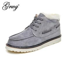 Beckham botas de nieve para hombre, zapatos de invierno con cordones, piel de oveja auténtica, piel natural, botines de lana