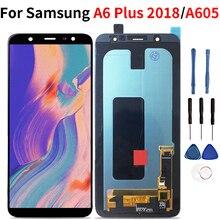 Para samsung galaxy a6 plus 2018 lcd tela de toque digitador assembléia para samsung a6 plus a6 a605 a605fd
