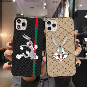 Luxury brand funny rabbit  Phone Case for iPhone 11 Pro X XS Max XR 6S 7 8 Plus Samsung Galaxy Note10 S8 S9 S10 S20 Plus Ultra luxury 3d diamond print cell phone case for iphone 6s 7 8 plus xr xs max crystal holder for samsung galaxy s9 s10 note 8 9 cover