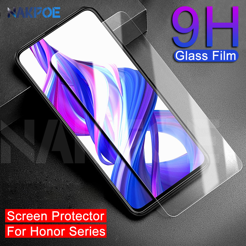 9H Protective Glass For Huawei Honor 9X 8X 9i 10i 20i 8A 8C Play Screen Protector Honor 20 Lite V20 V10 V9 Tempered Glass Film