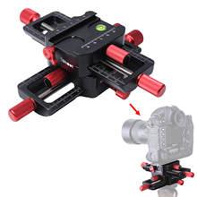 150mm 4 weg Makro Mit Schwerpunkt Schiene Slider Kopf Mit Arca Swiss Fit Clamp Quick Release Platte für stativ Kugelkopf Canon Sony Kamera