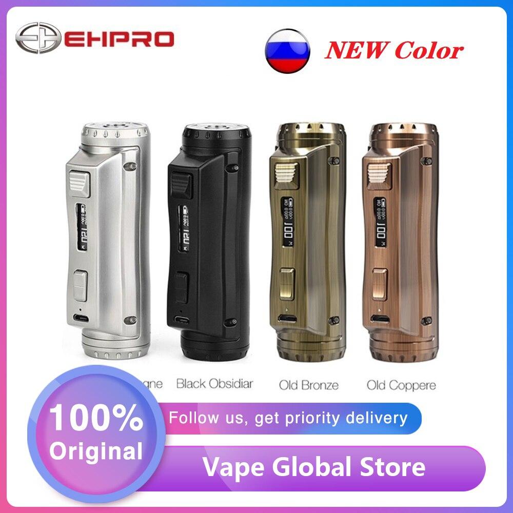 New Color Original Ehpro Cold Steel 100 TC Box MOD 120W E-cig Vape Mod Power By 18650/20700/21700 Battery Vs Drag 2 / Mechman