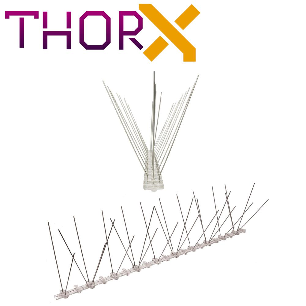 MH-03-TP 3 Row Pigeon Spikes  Bird Spike On Polycarbonat Base - High Quality Solution For Bird Control Spikes