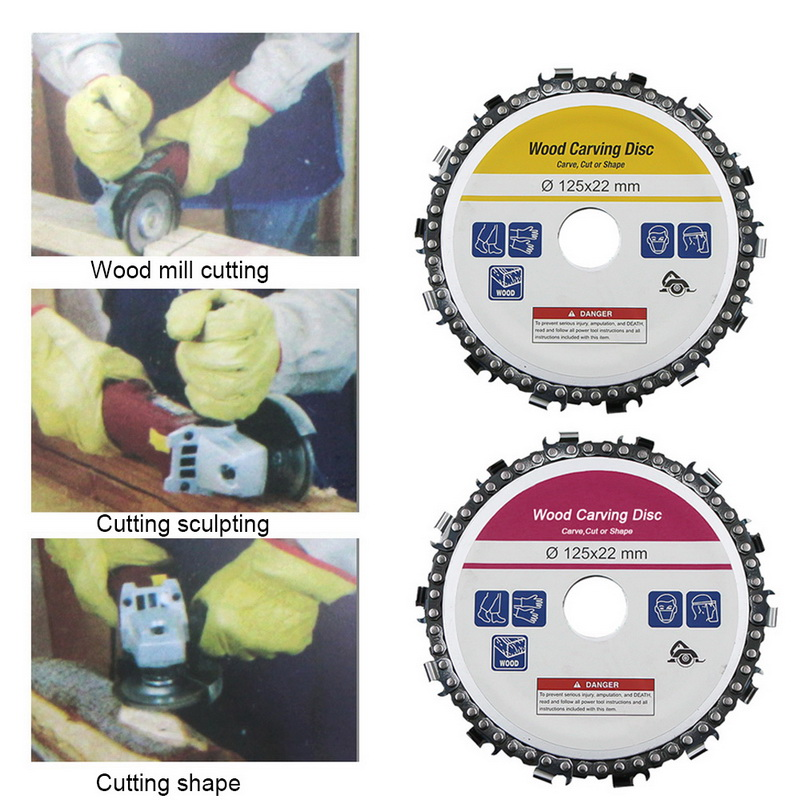 Tool Cutting Disc Accessories Grinding Wheel Rotary Circular Saw Blade Abrasive Wood Carving Disc For Angle Grinders Carve Shape