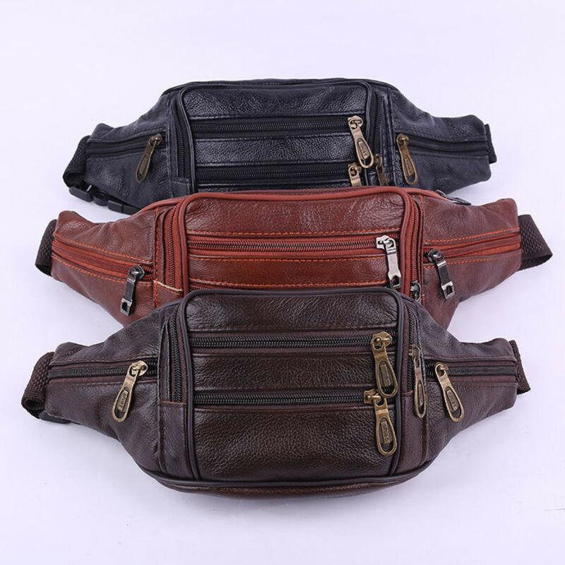 New Men Leather Hip Belt Fanny Pack Waist Purse Sling Bag Wallet Purse Holder