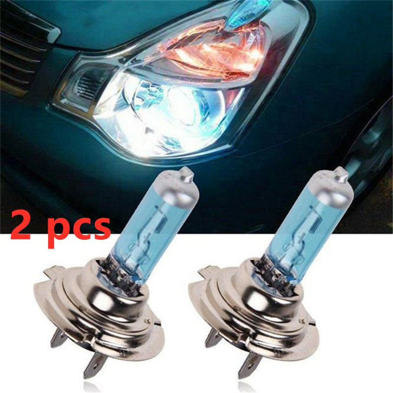2 Pcs H7 6000K Xenon Gas Halogen Headlight White Light Lamp Bulbs 55W 12V