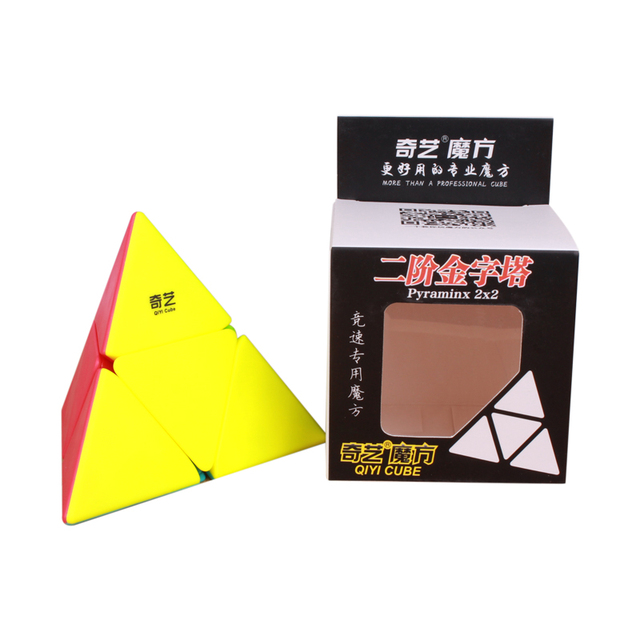 QiYi 2×2 Pyramid Cube Professional Magic Speed Cubes Stickerless Puzzle 2x2x2 Cube Education Toys For kids Gift