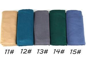 Image 4 - J12 جودة عالية 100% القطن جيرسي الحجاب سيدة شالات طويلة الأوشحة وشاح طويل التفاف عقال 180*80 سنتيمتر 10 قطعة/الوحدة
