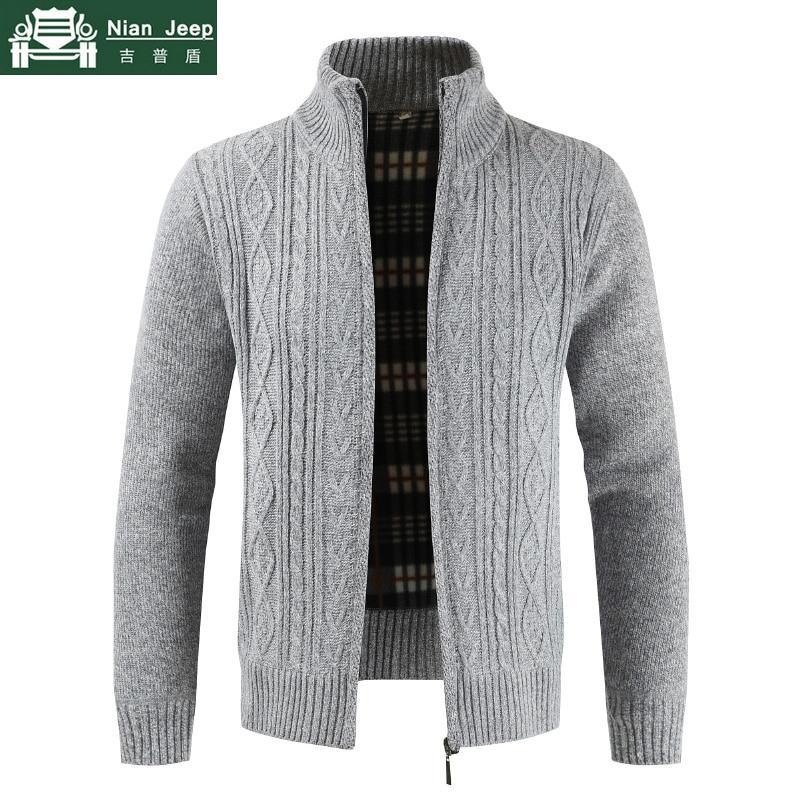 Brand High Qality Thick Sweater Men Slim Fit Cardigan Sweatercoat Male Knit Zipper Autumn Winter Warm Casual Mens Sweaters M-3XL