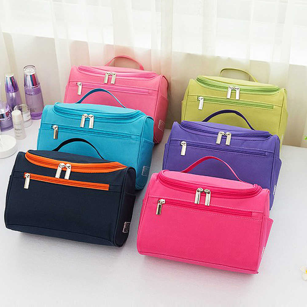 New Portable Makeup Storage Bag Travel Toiletry Bag Large Capacity Women Cosmetics Case Organizer for Bathroom Hanging Wash Bags