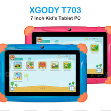 Children Tablet for Kids French Android Touch 7inch HD Pad with Silicone Case USB charge Quad Core 1GB 16GB