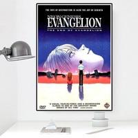 Póster de personaje de animación para pared, lienzo con impresión HD de Evangelion, imagen para decoración del hogar, sala de estar y dormitorio
