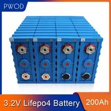 PWOD 16PCS CALB 3,2 V 200ah LiFePO4 Batterie 48V200AH 24V400Ah Lithium-eisen phosphat packs EV RV boot solarzelle EU UNS STEUER FREIES
