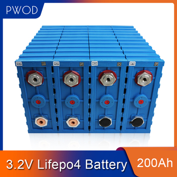 PWOD 16PCS CALB 3.2V 200ah LiFePO4 Battery 48V200AH 24V400Ah  Lithium iron phosphate packs EV RV boat solar cell EU US TAX FREE