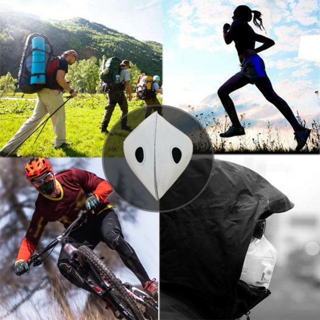 Hot 1pcs Bike Face Cover Mask With Filter Unisex Sport Mouth Cover Respirator Mask Dust Windproof Masks Cycling Riding Facemask 5