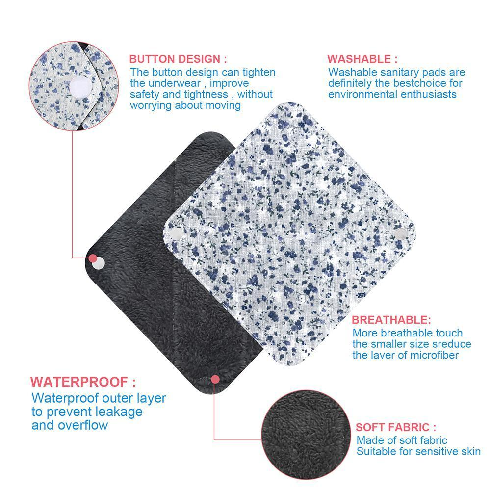 1pc Color Random New Reusable Panty Liner Cloth Waterproof Pads Women Cotton Washable Napkin Period Menstrual Pad Pad Sanit R5M1