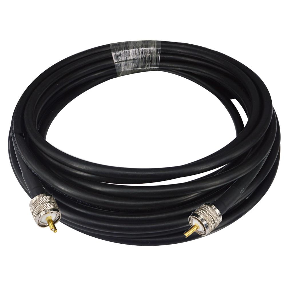 RG8 Coax Coaxial Antenna 10M Cable UHF Male To UHF Male Connectors 50 OHM Jumpers Amateur CB Radio Antenna Cable Wire
