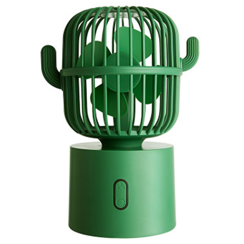 USB Fan Rechargeable Portable <font><b>Table</b></font> Cooler 3 Speed Silent Air Cooling Mini Fans For Home <font><b>Car</b></font> <font><b>Notebook</b></font> Laptop-Green image