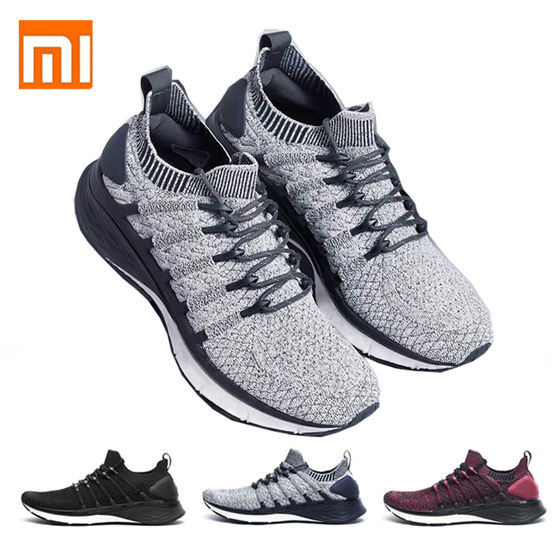 Original Xiaomi Mijia Sneaker Sports Shoes 3 Running Sneakers Popcorn Cloud Bomb 6 In 1 Uni Molding With 3D Lock Fishbone System