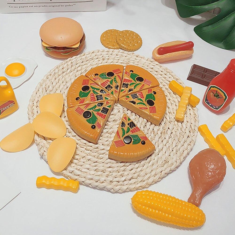 120 шт., игрушки для имитации фруктов, пластиковые Кухонные Игрушки, миниатюрный набор для безопасного питания, обучающая игрушка, набор для
