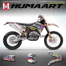 Vinyl-Wrap Motorcycle-Graphics-Kit 2008 HUMAART for 125-250 XCW EXC EXC-F 525 2009 400