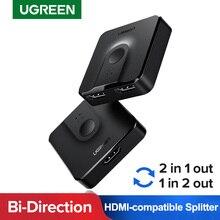 Ugreen 4K HDMI Splitter Schalter für Xiaomi Mi Box Bi-Richtung 1x 2/2x1 HDMI adapter Konverter 2 in 1 heraus für PS4 HDMI Switcher