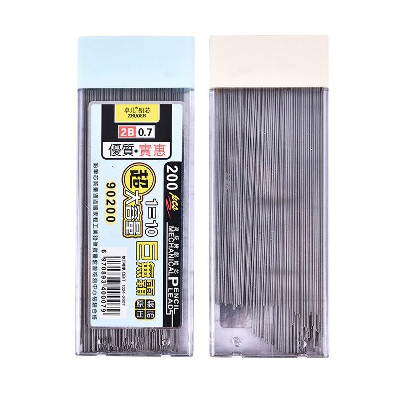 200 шт./кор. графитовый свинцовый 2B механический карандаш заправка автоматический карандаш Новый ZMONH