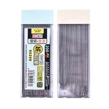 200 pçs/caixa grafite chumbo 2b lápis mecânico reenchimento automático lápis chumbo novo zmonh