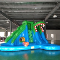 New Design Crocodile Inflatable Slide with Pool Outdoor Inflatable Water Park PVC Inflatable Toy for Kids And Adult