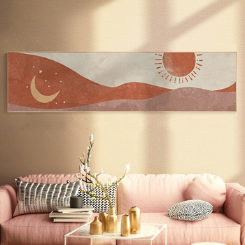 Morandi Poster The Sun And Moon Canvas Painting Nordic Wall Art Pictues Print For Bedroom Big Size Home Decore Unframe