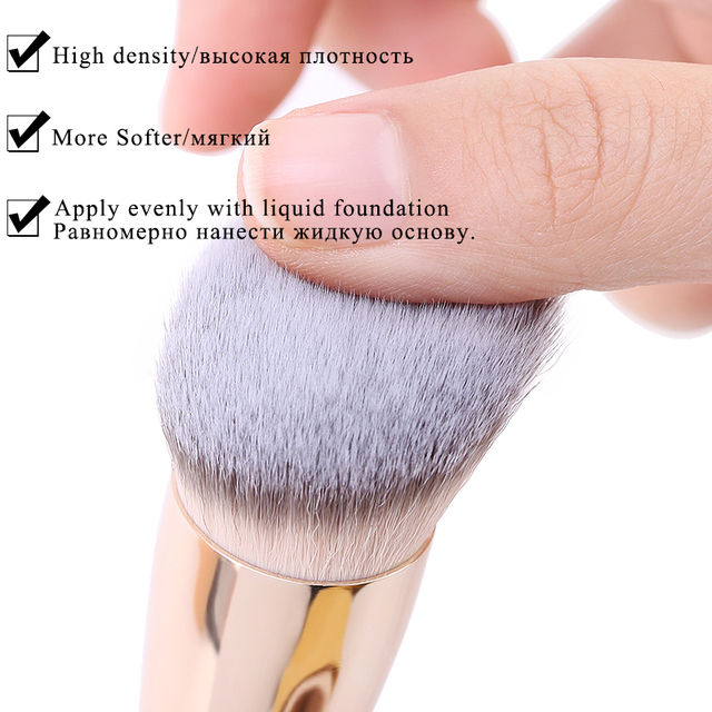 1PCS Oblique Head Foundation brush Powder Concealer Liquid Foundation Face Makeup Brushes Tools Professional Beauty Cosmetics 3