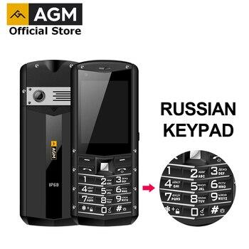 Перейти на Алиэкспресс и купить (Клавиатура с русским шрифтом) AGM M5 упрощенный Android OS 4G LTE Type C сенсорный экран IP68 водонепроницаемый прочный мобильный телефон 2,8 дюйма 2500 мАч