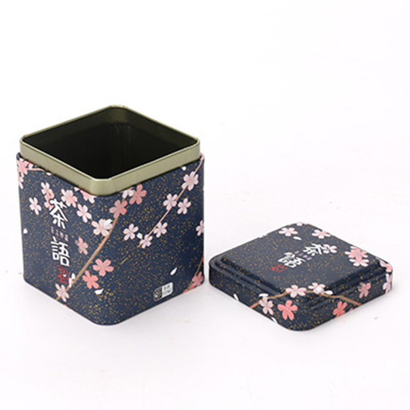 Xin Jia Yi Metal Tea Tin Box Metal Tin Can Bucket Empty Tin Cans Sale Rectangle Biscuit Tin Case Candle Tin Containers Tin Tube
