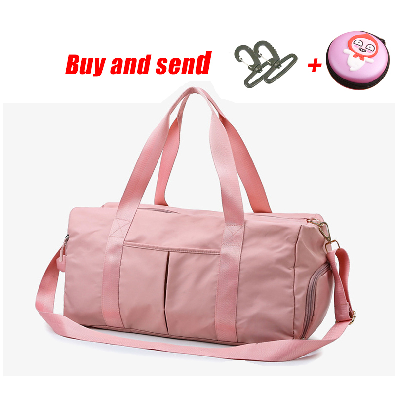 The Latest Design Sequins PINK Letter Fitness Bag Dry And Wet Separation Sports Bag Shoulder Messenger Bag Couple Handbag Travel