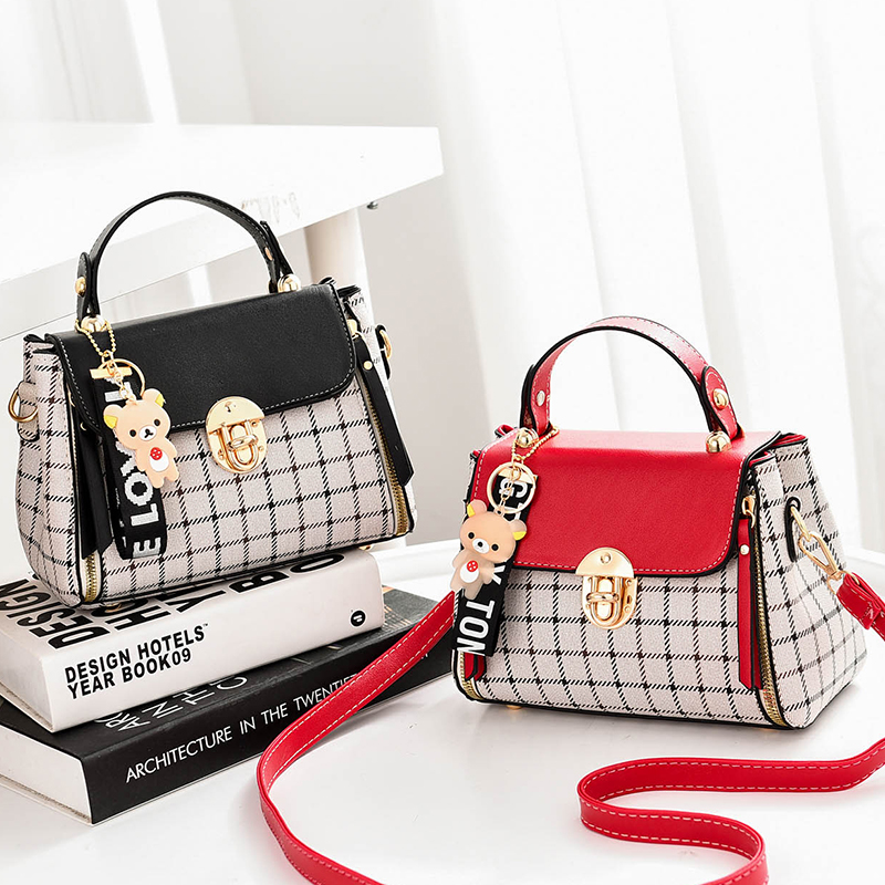 Square Bag Crossbody-Bag Small Fashion Casual Cute Ladies PU Type Matching Girls Exquisite-Color