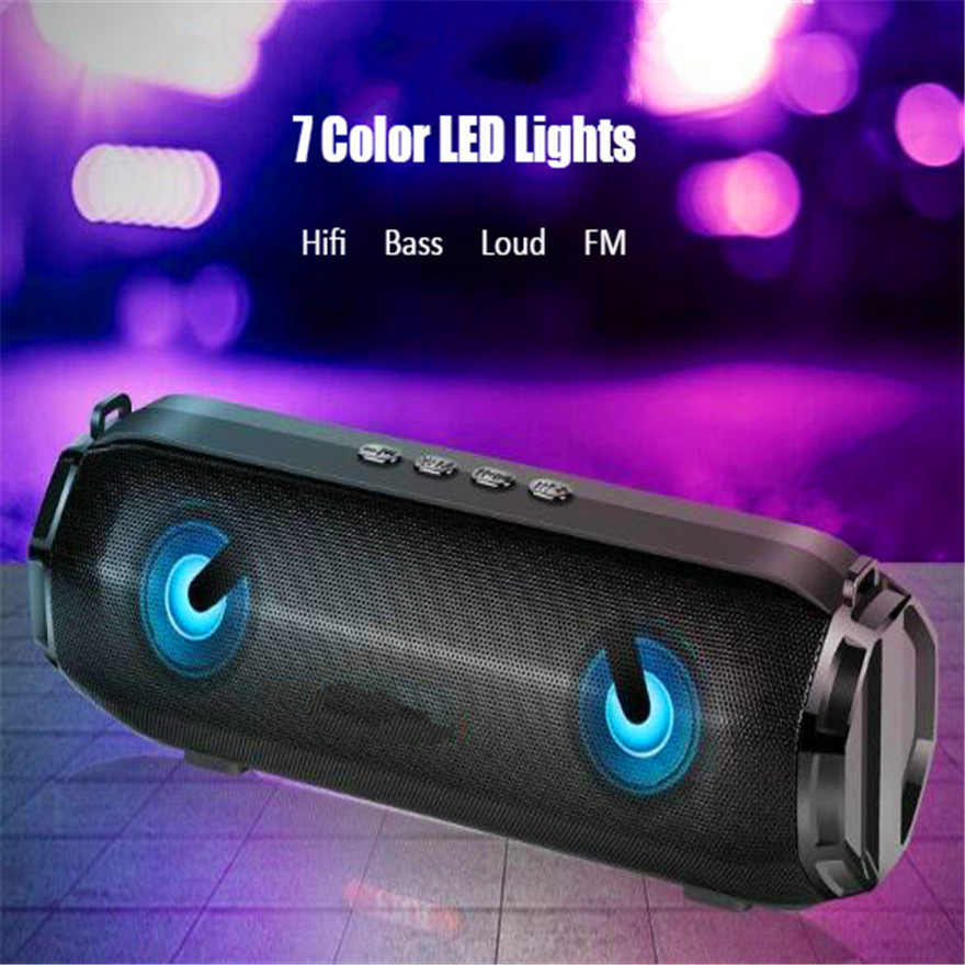 Bluetooth Speaker Subwoofer Soundbar Boombox Speakers Woofer Radio  Portable Sound System Hifi Gold Bass Music Speaker Box