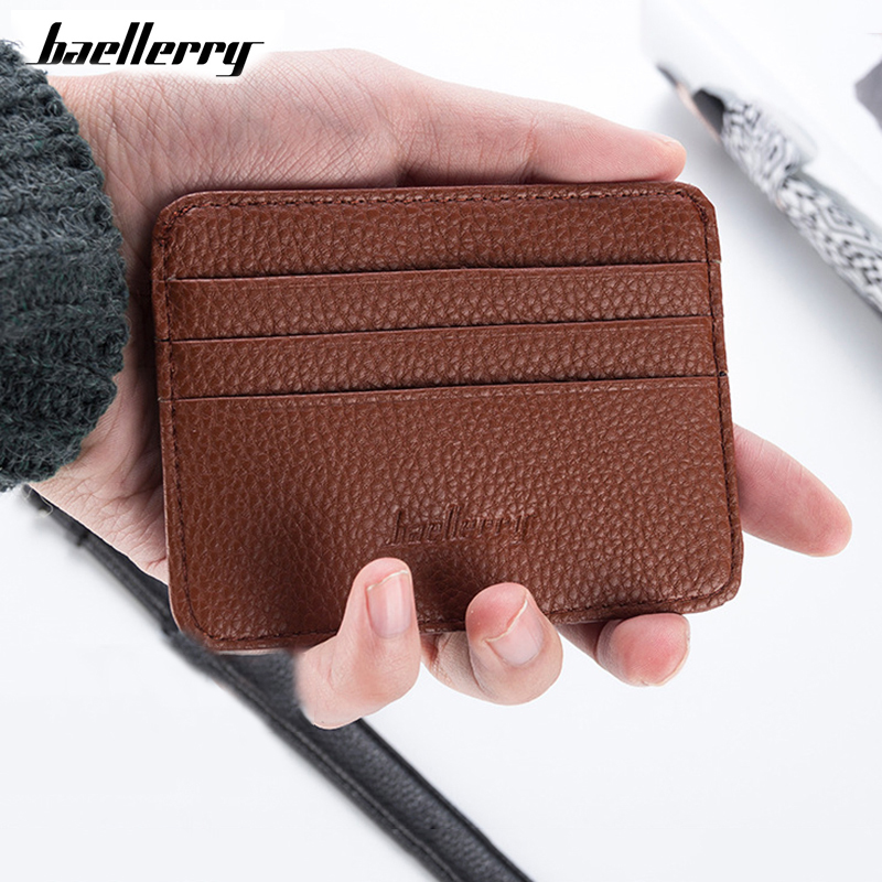 Baellerry Men Women Bank Card Package Coin Bag Card Holder Travel Leather Wallet Driving Licence Credit Card Holder Cover XB01