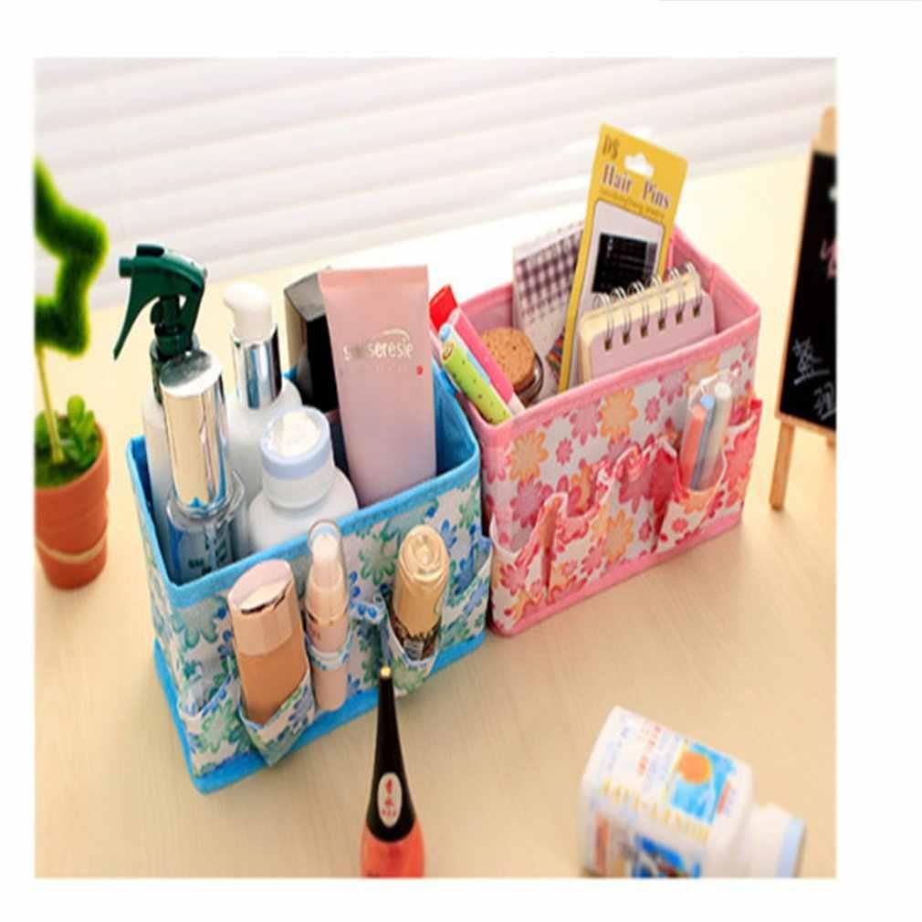 Tela no tejida plegable tamaño pequeño almacenamiento cesta caja de almacenamiento diversos organizador balde de almacenamiento de juguetes organizador del hogar