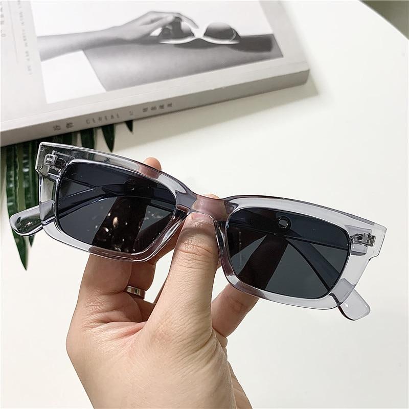 2021 nuove donne rettangolo occhiali da sole Vintage Designer di marca punti retrò occhiali da sole donna Lady occhiali Cat Eye Driver occhiali 2