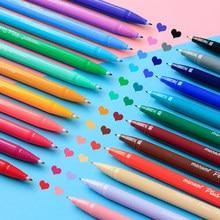 Monami 3000 12/24/36/48 cores gel caneta fibra cor aquarela caneta gancho linha caneta mão conta grafite pintura papelaria escola