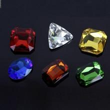 10 pces acrílico plástico retangular oval quadrado diamante forma peças de penhor para token board jogos contador acessórios