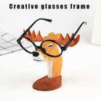 Eyeglass Glasses Holder Vintage Animal Wooden Stand Sunglasses Display Rack for Home Office 2019ing