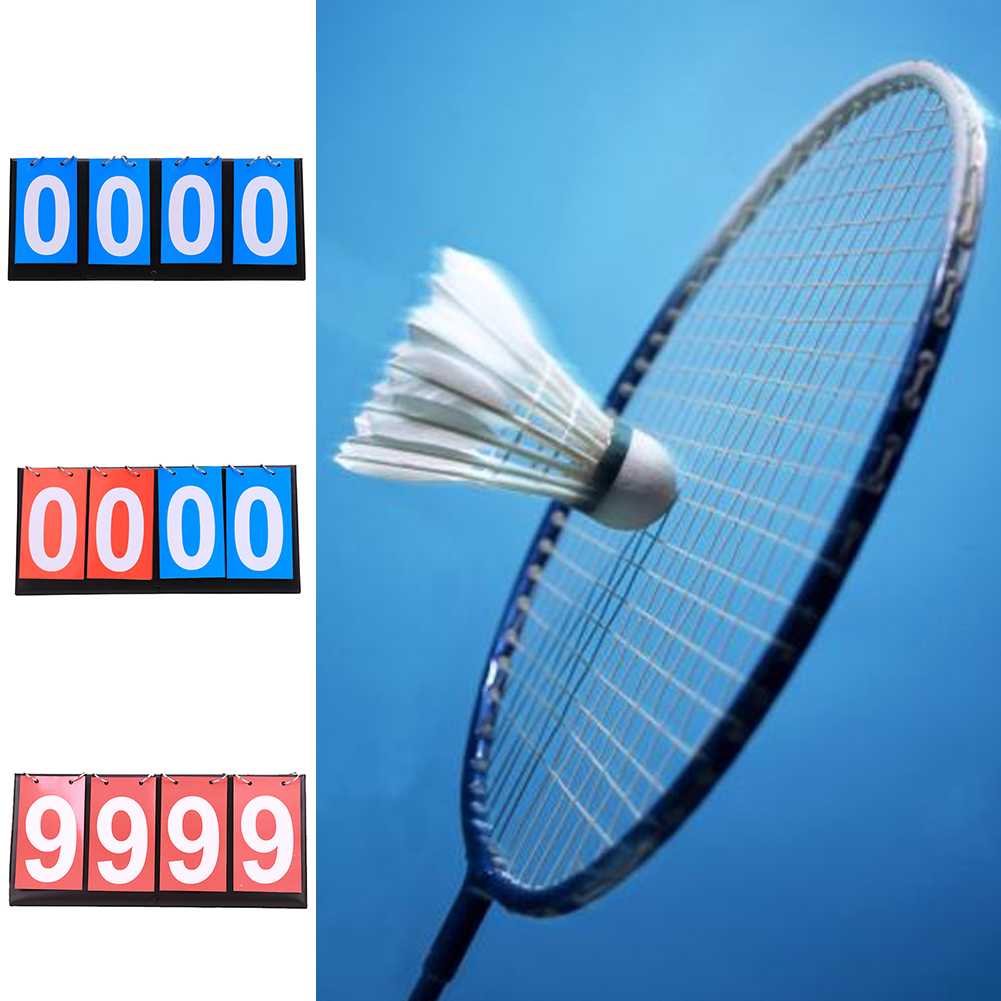 Foldable 4 Digit Competitions Team Sport Basketball Badminton Ring Scoreboard Double-sided Sports Flip Competitions Scoreboards
