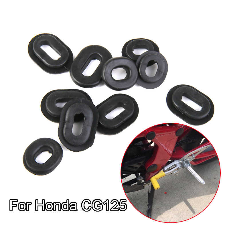 12x Rubber Side Cover Grommets for CG125 Motorcycle Motorbike Honda-Black