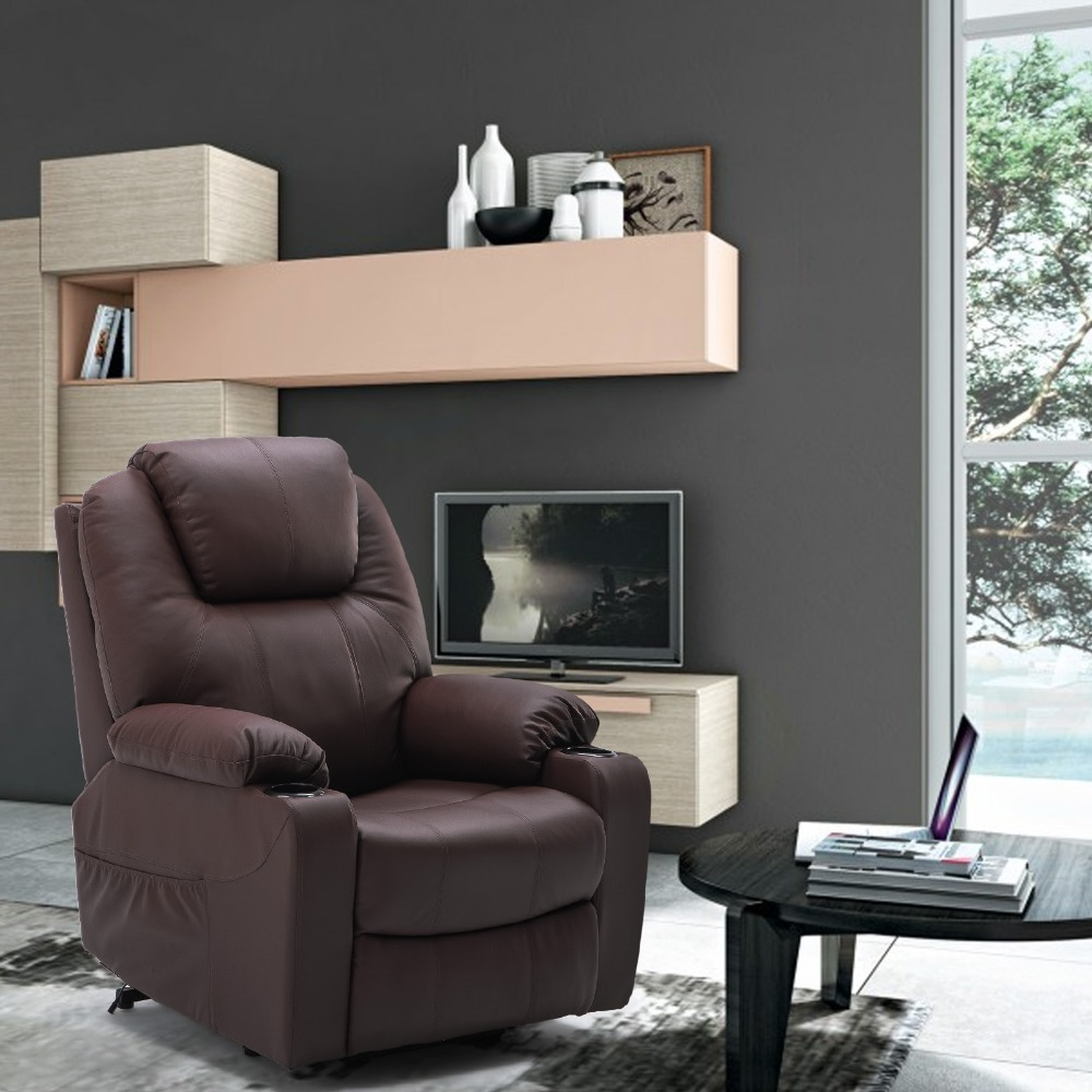 Furgle Massage Recliner Chair Swivel Chair Massage sofa with PU Leather